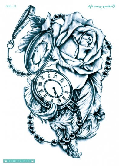 Pocket Watch and Rose