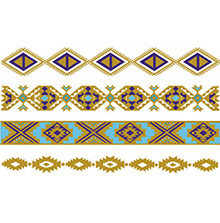 BLUE AND GOLDEN BRACELET TATTOOS