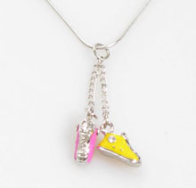 Mini Shoe Halsband Pink/Yellow